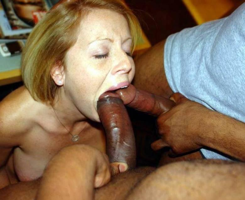A Brunette Girl Sucks Her Boyfriend's Dick Hard