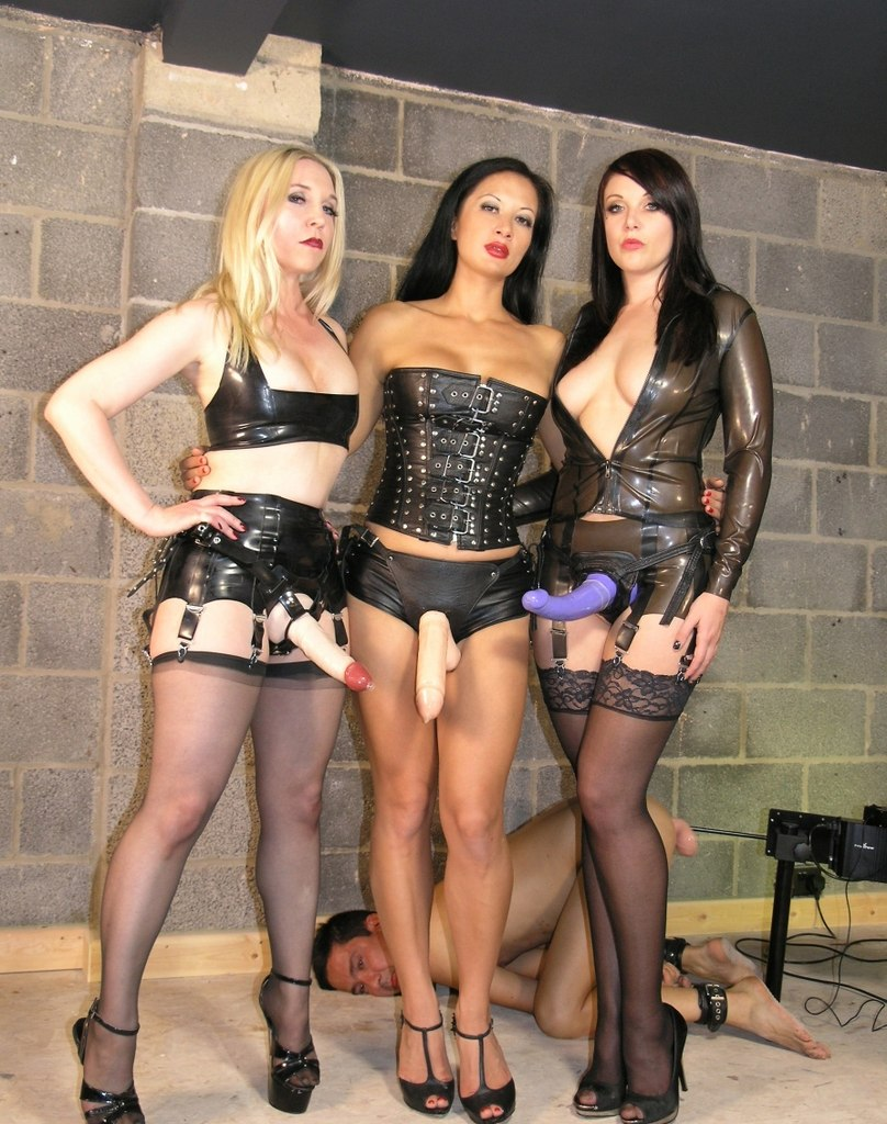 Young femdom girls dominate slaves